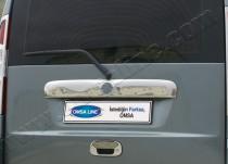 Хромированная накладка на багажник Фиат Добло 1 (хром накладка над номером Fiat Doblo 1)