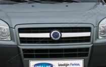 Хром накладки на решетку радиатора Фиат Добло 1 (хромированные накладки на решетку радиатора Fiat Doblo 1)