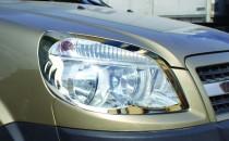 Хром накладки на фары Фиат Добло 1 (хромированная окантовка фар Fiat Doblo 1)