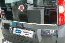 Хромированный молдинг стекла багажника Фиат Добло 2 (хром молдинг стекла крышки багажника Fiat Doblo 2)