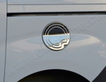 Хром накладка на лючок бензобака Фиат Добло 2 (хромированный лючок на бензобак Fiat Doblo 2)