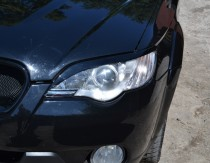 Купить реснички на передние фары Subaru Outback 3 (реснички фар