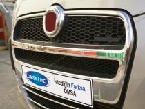 Хром накладки на решетку радиатора Фиат Добло 2 (хромированные накладки на решетку радиатора Fiat Doblo 2)