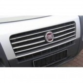 Хром накладки на решетку радиатора Фиат Дукато 3 (хромированные накладки на решетку радиатора Fiat Ducato 3)