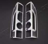 Хромированная окантовка на стопы Фиат Дукато 3 (хром накладки на стопы Fiat Ducato 3)