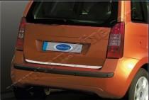 Хромированная кромка багажника Фиат Идея (хром нижняя кромка крышки багажника Fiat Idea)