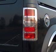 Хромированная окантовка на стопы Форд Коннект 1 (хром накладки на стопы Ford Connect 1)