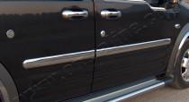 Хромированные молдинги дверей Форд Коннект 1 (хром накладки на двери Ford Connect 1)