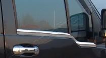 Хромированные молдинги стекол Форд Коннект 1 (хром нижние молдинги стекол Ford Connect 1)