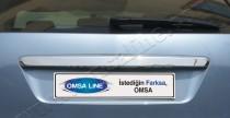 Хромированная накладка над номером Форд Фокус 2 (хром планка зад