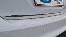 Хромированная кромка багажника Форд Фокус 3 (хром нижняя кромка крышки багажника Ford Focus 3)