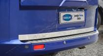 Хромированная кромка багажника Форд Транзит Кастом (хром нижняя кромка крышки багажника Ford Transit Custom)