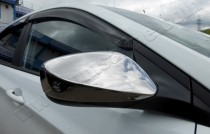 Omsa Line Хром накладки на зеркала Хендай Акцент 4 (хромированные накладки на боковые зеркала Hyundai Accent 4)