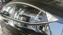 Хромированная окантовка на молдинги стекол Хендай Элантра 5 МД (хром окантовка на стекла Hyundai Elantra 5 MD)