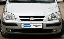 Хром накладки на решетку радиатора Хюндай Гетц (хромированные накладки на решетку радиатора Hyundai Getz)