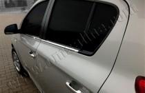 Хромированные молдинги стекол Хендай i20 1 (хром нижние молдинги стекол Hyundai i20 1)