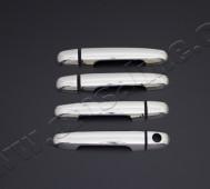 Хром накладки на ручки Хендай i30 1 (хромированные накладки на дверные ручки Hyundai i30 1)