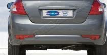 Хром накладка на задний бампер Киа Сид 1 (хромированная накладка заднего бампера Kia Ceed 1)