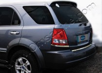 Хромированная кромка багажника Киа Соренто 1 (хром нижняя кромка крышки багажника Kia Sorento 1)
