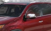 Хром накладки на зеркала Киа Соренто 2 (хромированные накладки на боковые зеркала Kia Sorento 2)