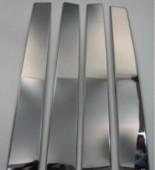 Хромированные молдинги дверных стоек Киа Спортейдж 2 (хром молдинги на стойки Kia Sportage 2)