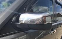 Хром накладки на зеркала Ленд Ровер Дискавери 3 (хромированные накладки на боковые зеркала Land Rover Discovery 3)