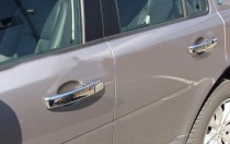 Хром накладки на ручки Ленд Ровер Дискавери 4 (хромированные накладки на дверные ручки Land Rover Discovery 4)