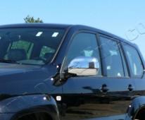 Хром накладки на зеркала Лексус GX 470 (хромированные накладки на боковые зеркала Lexus GX 470)