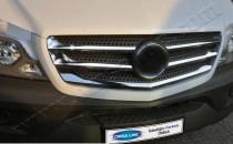 Хром накладки на решетку радиатора Mercedes Sprinter W906 (хромированные накладки на решетку радиатора Мерседес Спринтер W906)