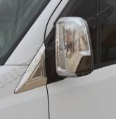 Хром накладки на зеркала Мерседес Спринтер W906 (хромированные накладки на боковые зеркала Mercedes Sprinter W906)
