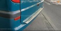 Omsa Line Хром накладка на задний бампер Мерседес Вито 639 (хромированная накладка заднего бампера Mercedes Vito W639)