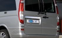 Omsa Line Хромированная накладка на багажник Mercedes Vito W639 (хром накладка над номером Мерседес Вито W639)