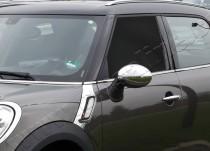 Хром накладки на зеркала Мини Кантримен R60 (хромированные накладки на боковые зеркала Mini Countryman R60)