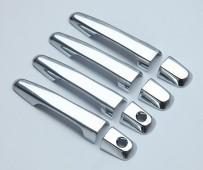 Хром накладки на ручки Митсубиси Л200 4 (хромированные накладки на дверные ручки Mitsubishi L200 4)