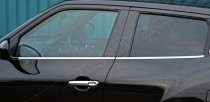 Omsa Line Хромированные молдинги стекол Ниссан Жук (хром нижние молдинги стекол Nissan Juke)