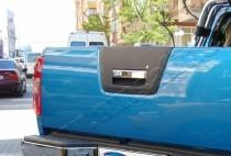 Хром ручка двери багажника Ниссан Навара D40 (хромированная дверная ручка на багажник Nissan Navara D40)