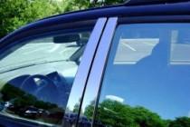 Хромированные молдинги дверных стоек Ниссан Патфайндер R51 (хром молдинги на стойки Nissan Pathfinder R51)