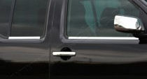 Хромированные молдинги стекол Ниссан Патфайндер R51 (хром нижние молдинги стекол Nissan Pathfinder R51)