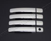 Хром накладки на ручки Ниссан Кашкай 1 (хромированные накладки на дверные ручки Nissan Qashqai 1)
