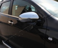 Хром накладки на зеркала Ниссан Кашкай 1 (хромированные накладки на боковые зеркала Nissan Qashqai 1)