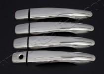 Хром накладки на ручки Ниссан Кашкай 2 (хромированные накладки на дверные ручки Nissan Qashqai 2)