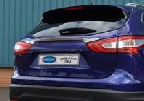 Хромированная накладка на багажник Ниссан Кашкай 2 (хром накладка над номером Nissan Qashqai 2)