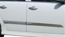 Хромированные молдинги дверей Опель Астра Н (хром накладки на двери Opel Astra H)