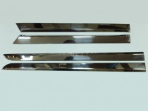 Хром накладки на боковые двери Opel Astra H (установка хром молд
