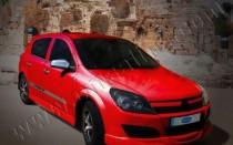 Хром пакет на боковые двери Opel AStra H (фото хром молдингов Оп