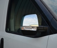 Хром накладки на зеркала Опель Комбо Д (хромированные накладки на боковые зеркала Opel Combo D)