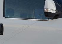 Хромированные молдинги стекол Опель Комбо Д (хром нижние молдинги стекол Оpel Combo D)