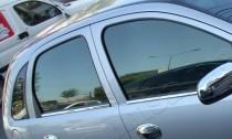 Хромированные молдинги стекол Опель Корса С (хром нижние молдинги стекол Opel Corsa C)