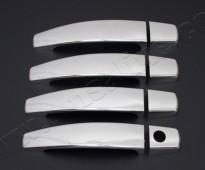 Хром накладки на ручки Опель Вектра С (хромированные накладки на дверные ручки Opel Vectra C)