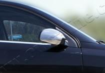Хром накладки на зеркала Опель Вектра С (хромированные накладки на боковые зеркала Opel Vectra C)